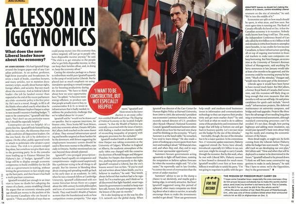 Article Preview: A LESSON IN IGGYNONMICS, January 2009 | Maclean's