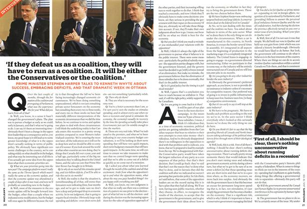 Article Preview: 'If they defeat us as a coalition, they will have to run as a coalition. It will be either the Conservatives or the coalition.', JAN. 19th 2009 2009 | Maclean's