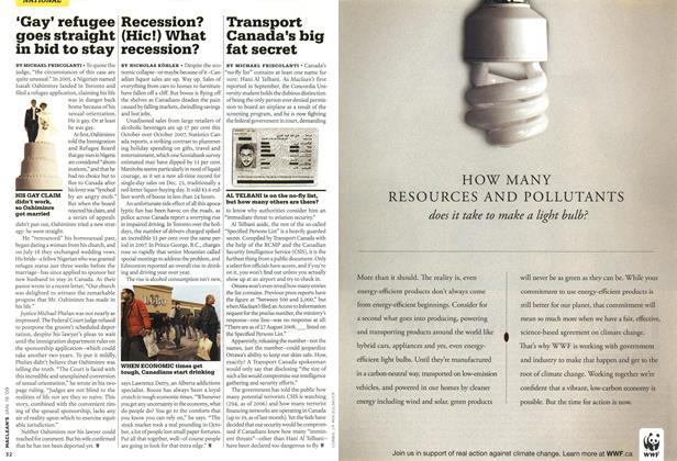 Article Preview: Transport Canada's big fat secret, JAN. 19th 2009 2009 | Maclean's