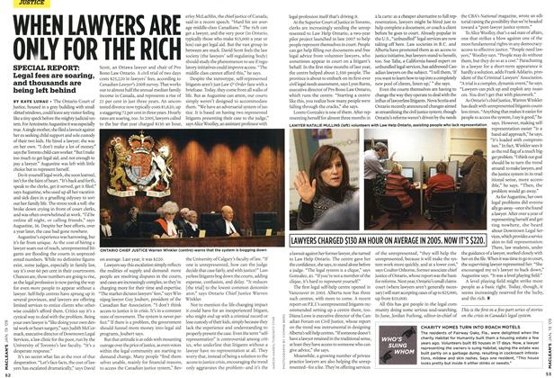 Article Preview: WHEN LAWYERS ARE ONLY FOR THE RICH, JAN. 19th 2009 2009 | Maclean's