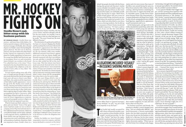 Article Preview: MR. HOCKEY FIGHTS ON, JAN. 19th 2009 2009 | Maclean's