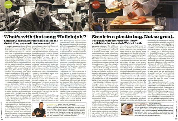 Article Preview: What's with that song 'Hallelujah'?, JAN. 19th 2009 2009 | Maclean's