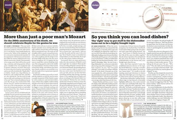 Article Preview: So you think you can load dishes?, JAN. 19th 2009 2009 | Maclean's