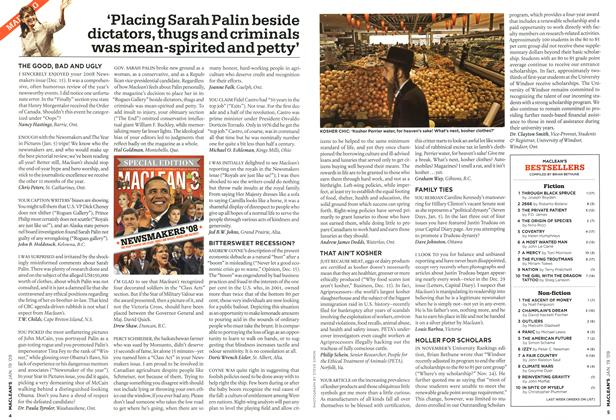 Article Preview: 'Placing Sarah Palin beside dictators, thugs and criminals was mean-spirited and petty', JAN. 19th 2009 2009 | Maclean's