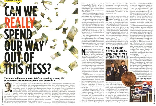 Article Preview: CAN WE REALLY SPEND OUR WAY OUT OF THIS MESS?, JAN. 26th 2009 2009 | Maclean's