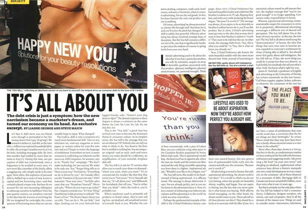 Article Preview: IT'S ALL ABOUT YOU, JAN. 26th 2009 2009 | Maclean's