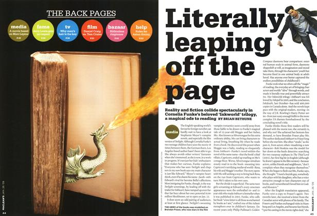 Article Preview: Literally leaping off the page, JAN. 26th 2009 2009 | Maclean's