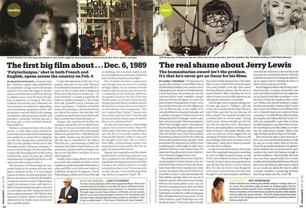 Article Preview: The first big film about... Dec. 6,1989, JAN. 26th 2009 2009 | Maclean's