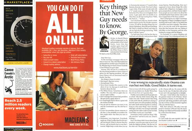 Article Preview: Key things that New Guy needs to know. By George., JAN. 26th 2009 2009 | Maclean's