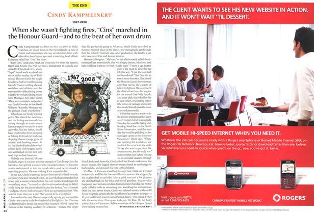 Article Preview: CINDY KAMPMEINERT, JAN. 26th 2009 2009 | Maclean's