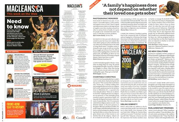 Article Preview: 'A family's happiness does not depend on whether their loved one gets sober', JAN. 26th 2009 2009 | Maclean's