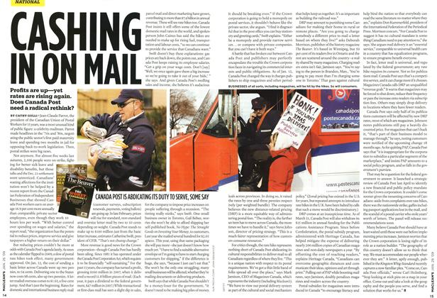 Article Preview: CASHING IN ON MAIL, JAN. 26th 2009 2009 | Maclean's