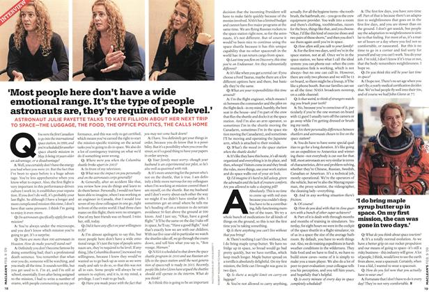 Article Preview: 'Most people here don't have a wide emotional range. It's the type of people astronauts are, they're required to be level.', FEB. 9th 2009 2009 | Maclean's