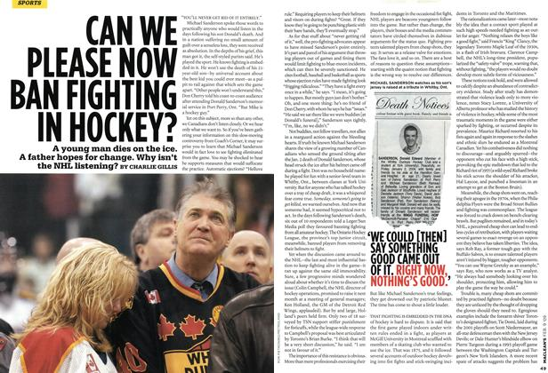 Article Preview: CAN WE PLEASE NOW BAN FIGHTING IN HOCKEY?, FEB. 9th 2009 2009 | Maclean's