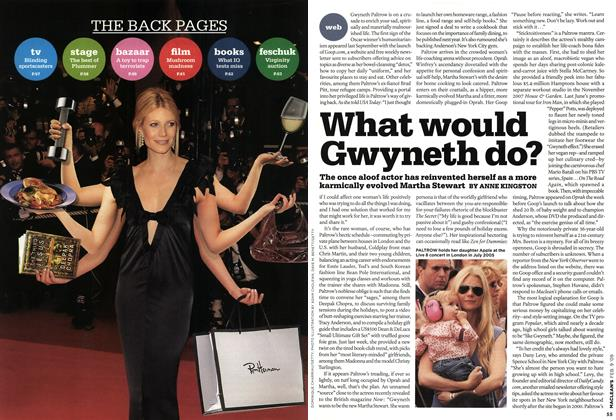 Article Preview: What would Gwyneth do?, FEB. 9th 2009 2009 | Maclean's