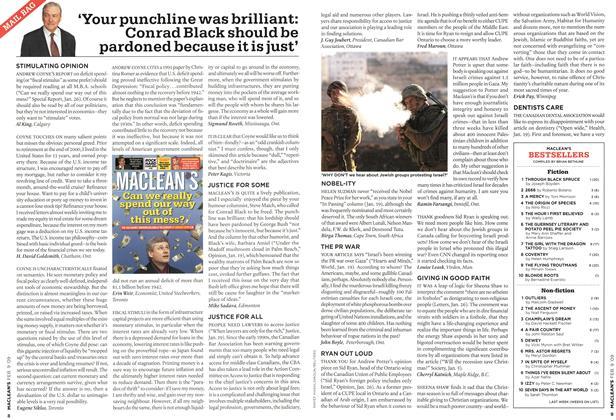 Article Preview: MACLEAN'S BESTSELLERS, FEB. 9th 2009 2009 | Maclean's