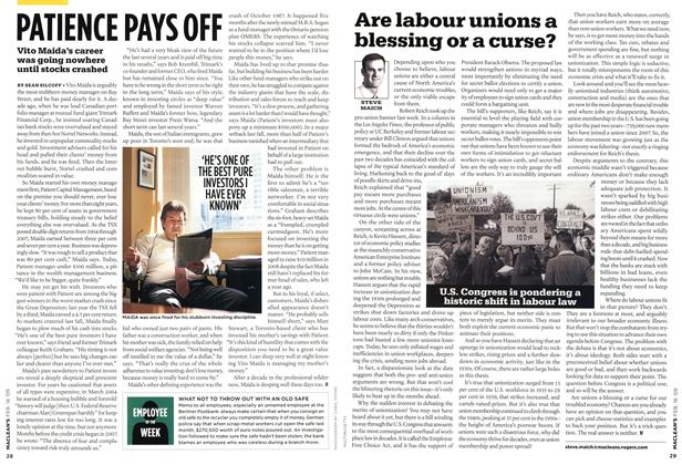 Article Preview: Are labour unions a blessing or a curse?, FEB. 16th 2009 2009 | Maclean's