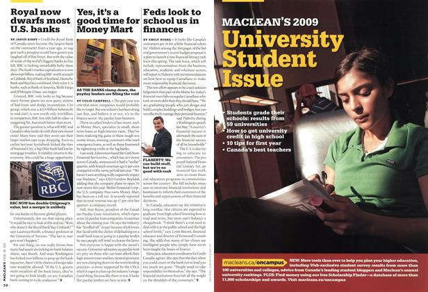 Article Preview: Students grade their universities, FEB. 16th 2009 2009 | Maclean's