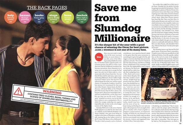 Article Preview: Save me from Slumdog Millionaire, FEB. 16th 2009 2009 | Maclean's