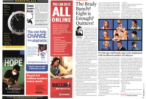 Article Preview: The Brady Bunch? Eight is Enough? Quitters!, FEB. 16th 2009 2009 | Maclean's