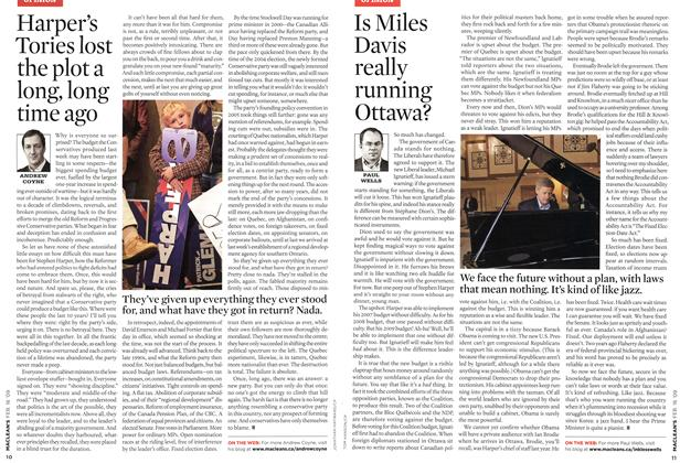 Article Preview: Is Miles Davis really running Ottawa?, FEB. 16th 2009 2009 | Maclean's