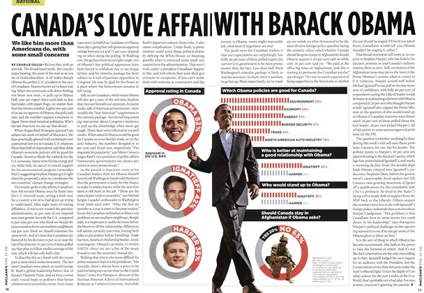 Article Preview: CANADA'S LOVE AFFAII WITH BARACK OBAMA, FEB. 23rd 2009 2009   Maclean's