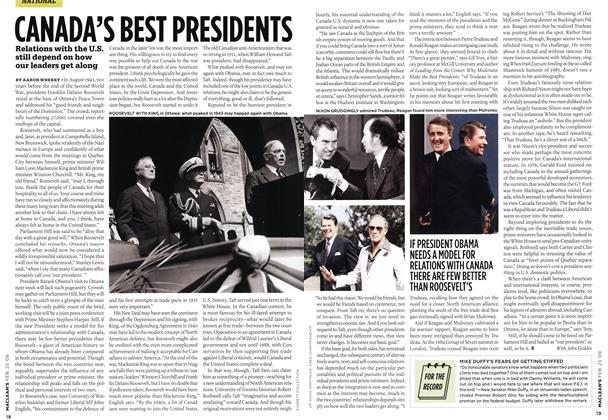 Article Preview: CANADA'S BEST PRESIDENTS, FEB. 23rd 2009 2009 | Maclean's