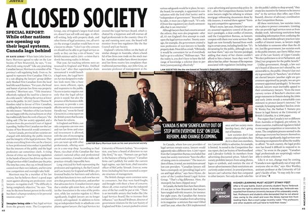 Article Preview: A CLOSED SOCIETY, FEB. 23rd 2009 2009 | Maclean's