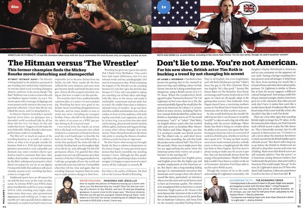 Article Preview: Don't lie to me. You're not American., FEB. 23rd 2009 2009 | Maclean's