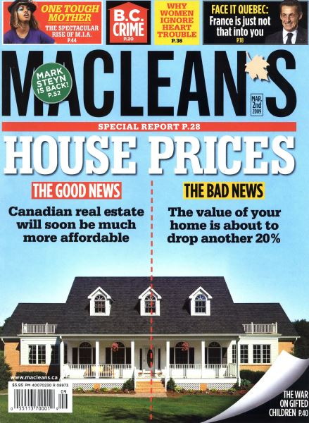 Issue: - MAR. 2nd 2009 | Maclean's
