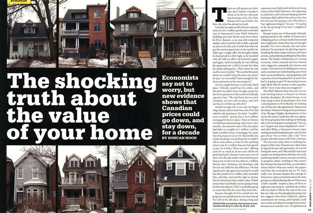 Article Preview: The shocking truth about the value of your home, MAR. 2nd 2009 2009 | Maclean's