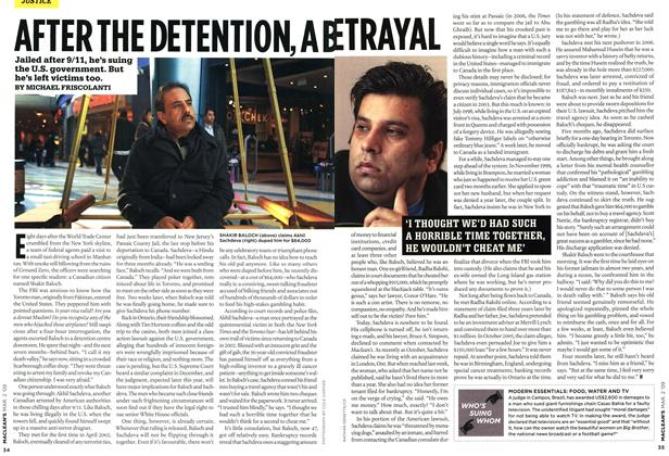 Article Preview: AFTER THE DETENTION, A BETRAYAL, MAR. 2nd 2009 2009 | Maclean's