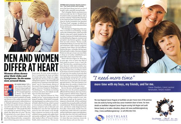 Article Preview: MEN AND WOMEN DIFFER AT HEART, MAR. 2nd 2009 2009 | Maclean's