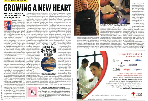 Article Preview: GROWING A NEW HEART, MAR. 2nd 2009 2009 | Maclean's