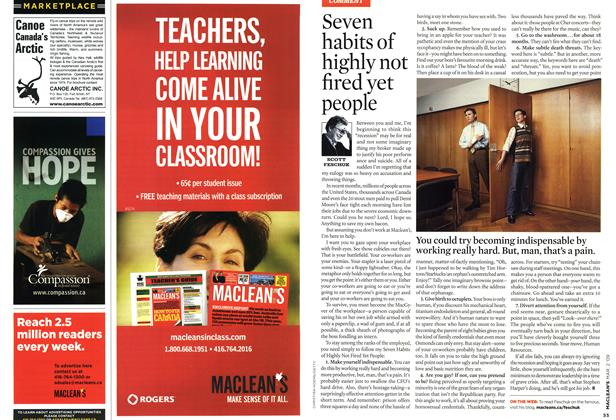 Article Preview: Seven habits of highly not fired yet people, MAR. 2nd 2009 2009   Maclean's
