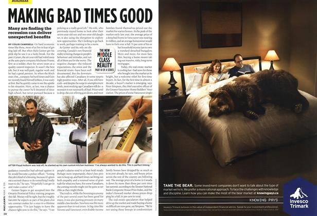 Article Preview: MAKING BAD TIMES GOOD, MAR. 9th 2009 2009 | Maclean's