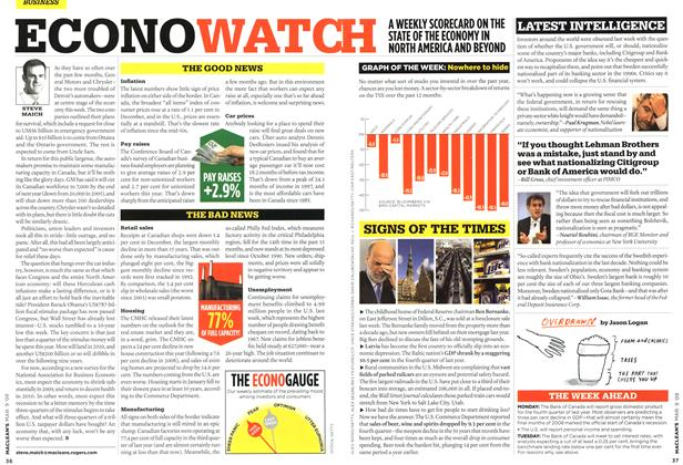 Article Preview: ECONO WATCH, MAR. 9th 2009 2009 | Maclean's