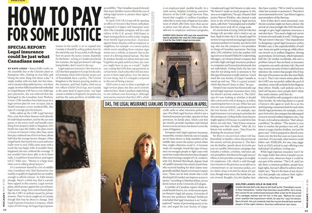 Article Preview: HOW TO PAY FOR SOME JUSTICE, MAR. 9th 2009 2009 | Maclean's