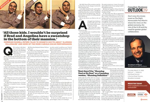 Article Preview: INTERVIEW, MAR. 9th 2009 2009 | Maclean's
