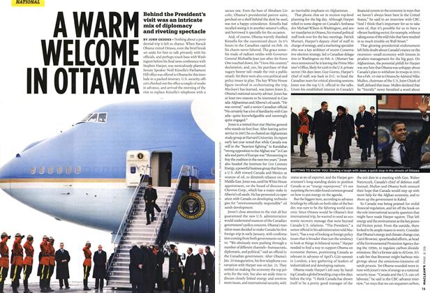 Article Preview: A WARM WELCOME IN OTTAWA, MAR. 9th 2009 2009 | Maclean's