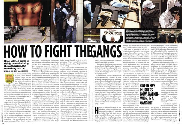 Article Preview: HOW TO FIGHT THE GANGS, MAR. 16th 2009 2009 | Maclean's