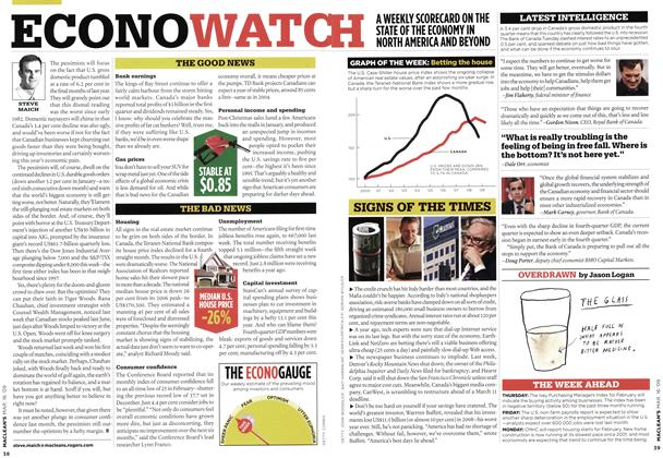 Article Preview: ECONOWATCH, MAR. 16th 2009 2009 | Maclean's