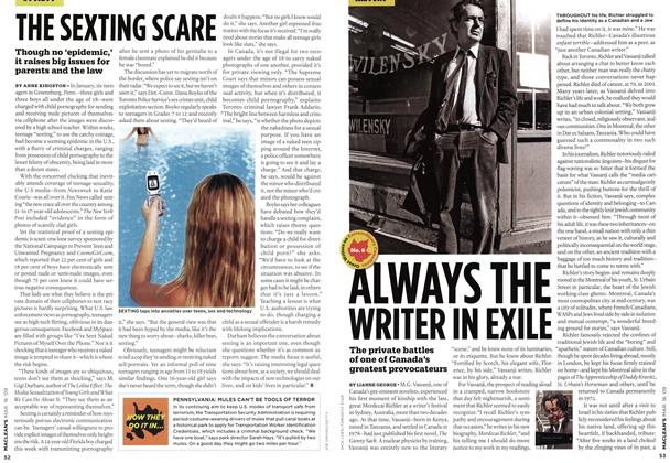 Article Preview: ALWAYS THE WRITER IN EXILE, MAR. 16th 2009 2009 | Maclean's