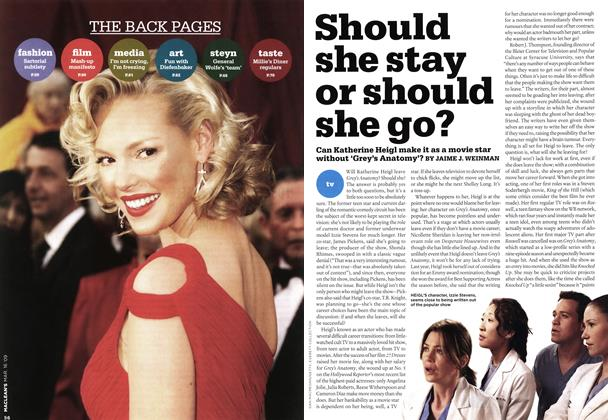 Article Preview: Should she stay or should she go?, MAR. 16th 2009 2009 | Maclean's