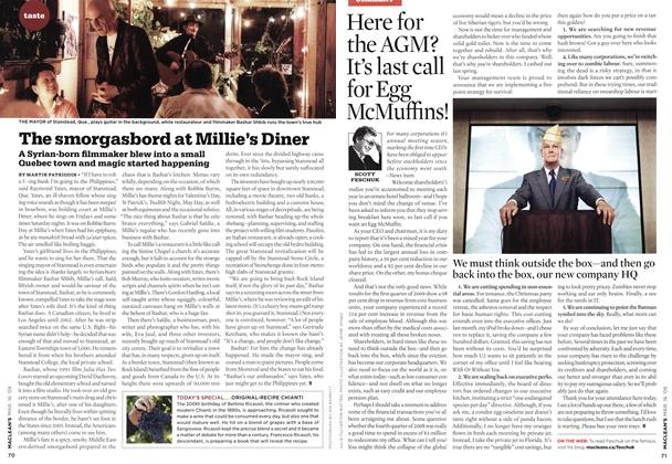 Article Preview: The smorgasbord at Millie's Diner, MAR. 16th 2009 2009 | Maclean's