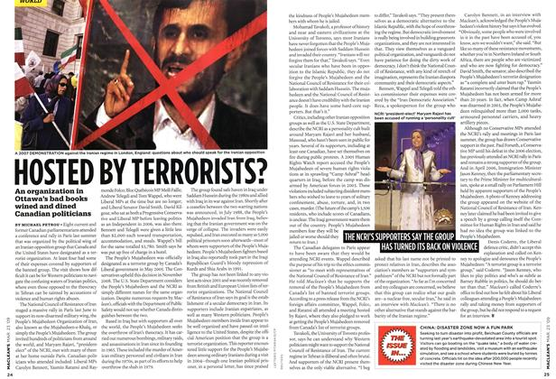 Article Preview: HOSTED BY TERRORISTS?, MAR. 23rd 2009 2009 | Maclean's