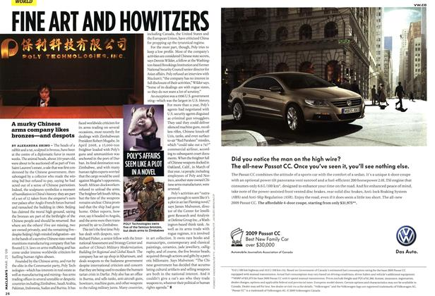 Article Preview: FINE ART AND HOWITZERS, MAR. 23rd 2009 2009 | Maclean's
