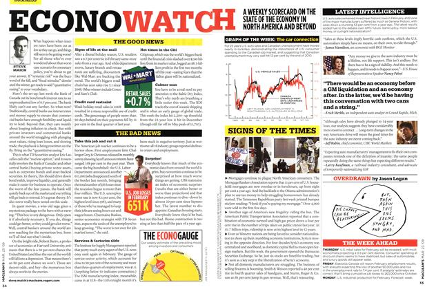 Article Preview: ECONOWATCH, MAR. 23rd 2009 2009 | Maclean's