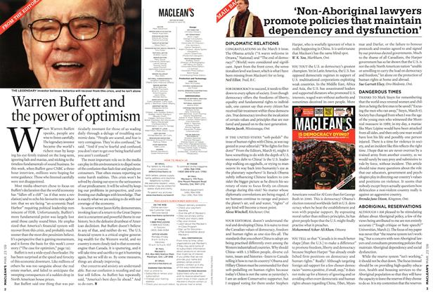 Article Preview: 'Non-Aboriginal lawyers promote policies that maintain dependency and dysfunction', MAR. 23rd 2009 2009 | Maclean's