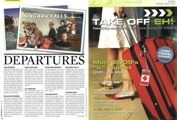 Article Preview: DEPARTURES, MAR. 23rd 2009 2009 | Maclean's